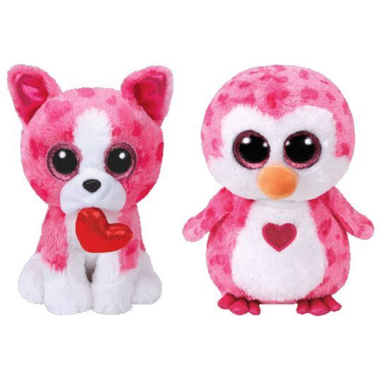 TY Beanie Boos - SET of 2 VALENTINES 2018 Releases (Medium Size - 9 inch)   BBToyStore.com - Toys ab6be2b1da2