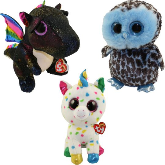 TY Beanie Boos - SET of 3 Spring 2018 Releases (Medium - 9 inch) (Anora d6c122cd807