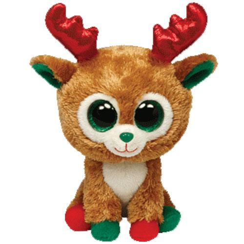 TY Beanie Boos - ALPINE the Reindeer (Glitter Eyes) (Red & Green Feet ...