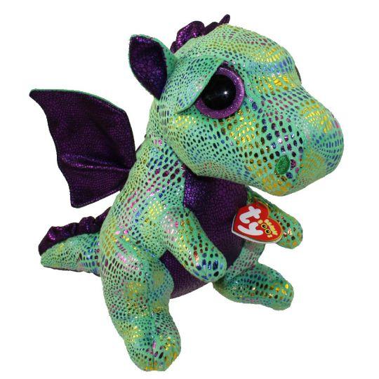 645f46930c5 TY Beanie Boos - CINDER the Green Dragon (Glitter Eyes) (Medium - 9 inch)   BBToyStore.com - Toys