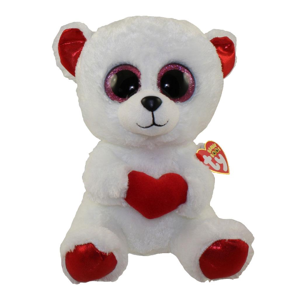 TY Beanie Boos - CUDDLY BEAR (Glitter Eyes) (Medium Size - 9 inch 221358ea4f35