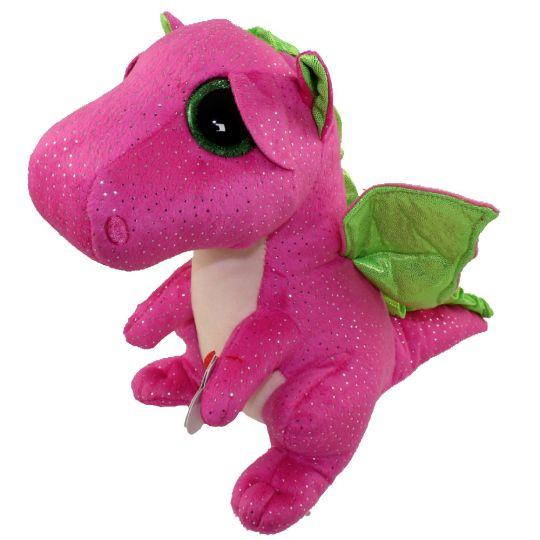 8ad147bba6e TY Beanie Boos - DARLA the Pink   Green Dragon (Glitter Eyes ...