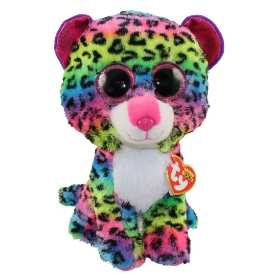 1df34e40dc0 TY Beanie Boos - DOTTY the Rainbow Leopard (Glitter Eyes) (Medium Size - 9  inch)  BBToyStore.com - Toys