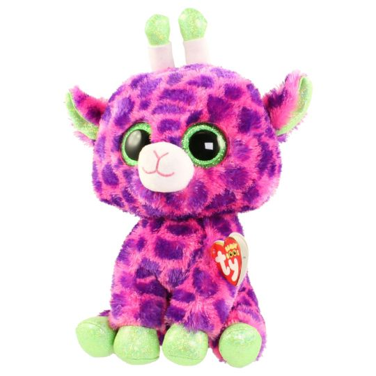 TY Beanie Boos - GILBERT the Pink Giraffe (Glitter Eyes) (Medium Size - 9  inch)  BBToyStore.com - Toys 68bb7dd69a61
