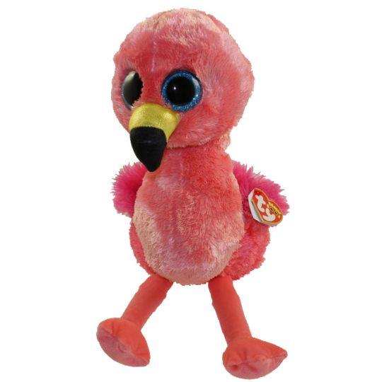 TY Beanie Boos - GILDA the Flamingo (Glitter Eyes) (Medium Size - 9.5  inch)  BBToyStore.com - Toys 11f1e16b59ff