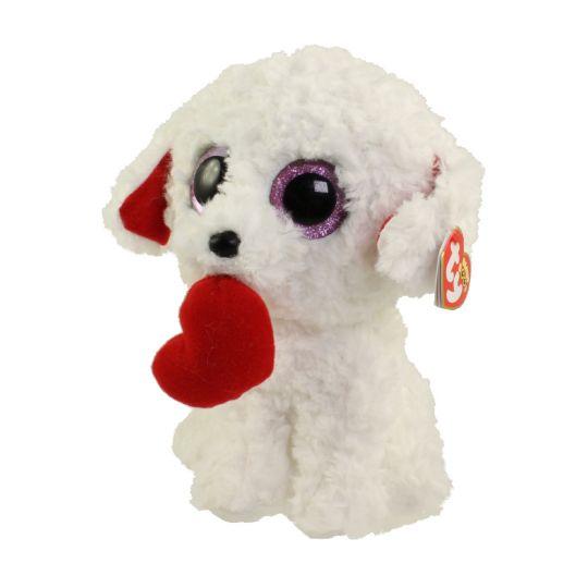 TY Beanie Boos - HONEY BUN the Dog (Glitter Eyes) (Medium Size - 9 inch)   BBToyStore.com - Toys bd05a7063c3