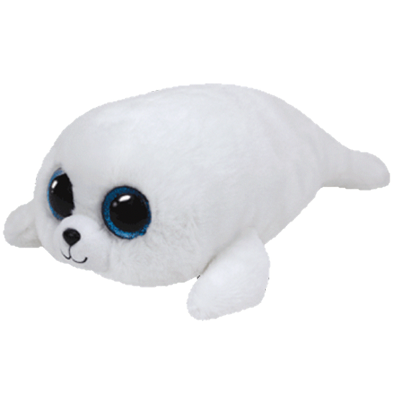 Ty Beanie Boos Icy The White Seal Glitter Eyes Medium