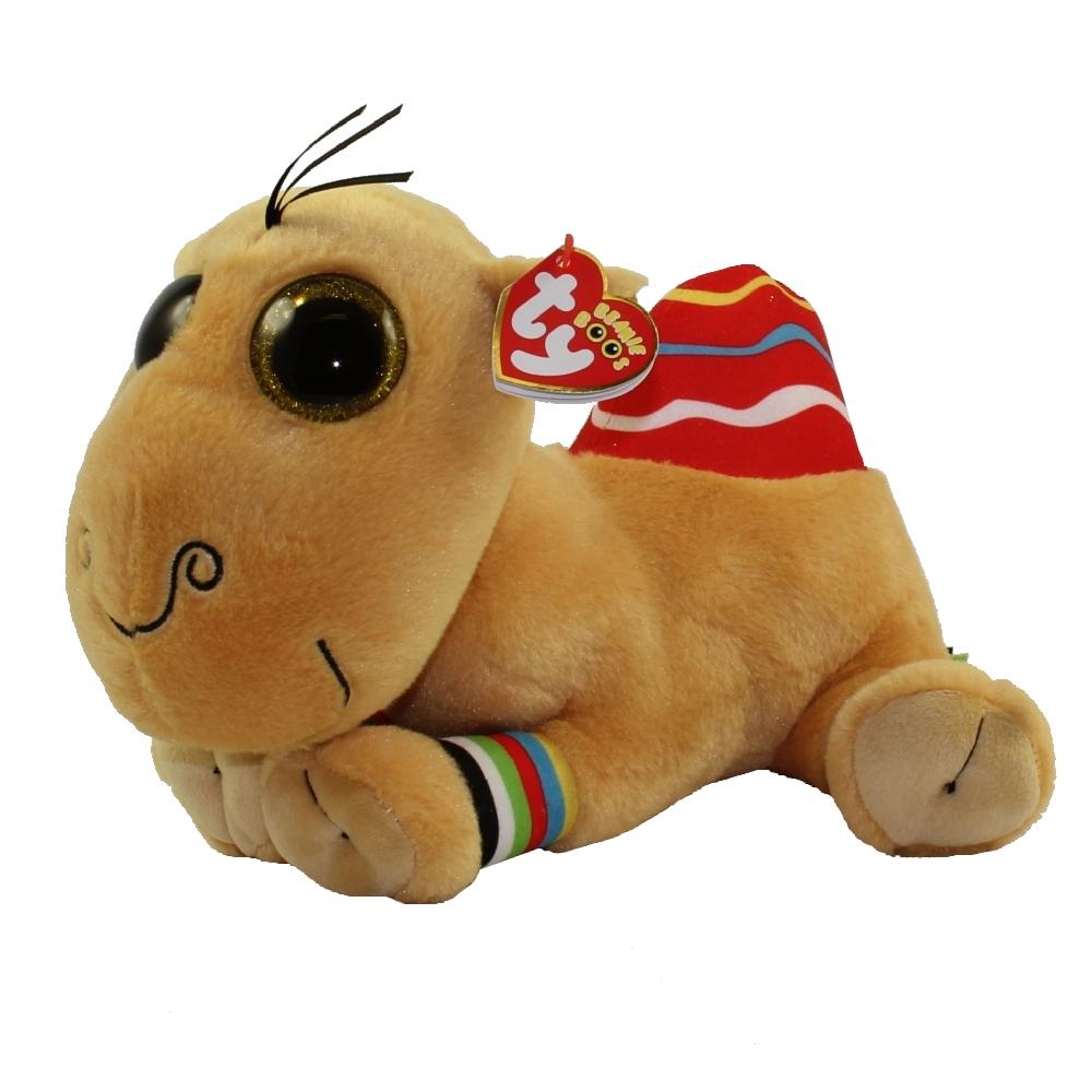 "6/"" TY Beanie Boo Jamal Glitter Eyes Holiday limited The Camel Plush Toys"