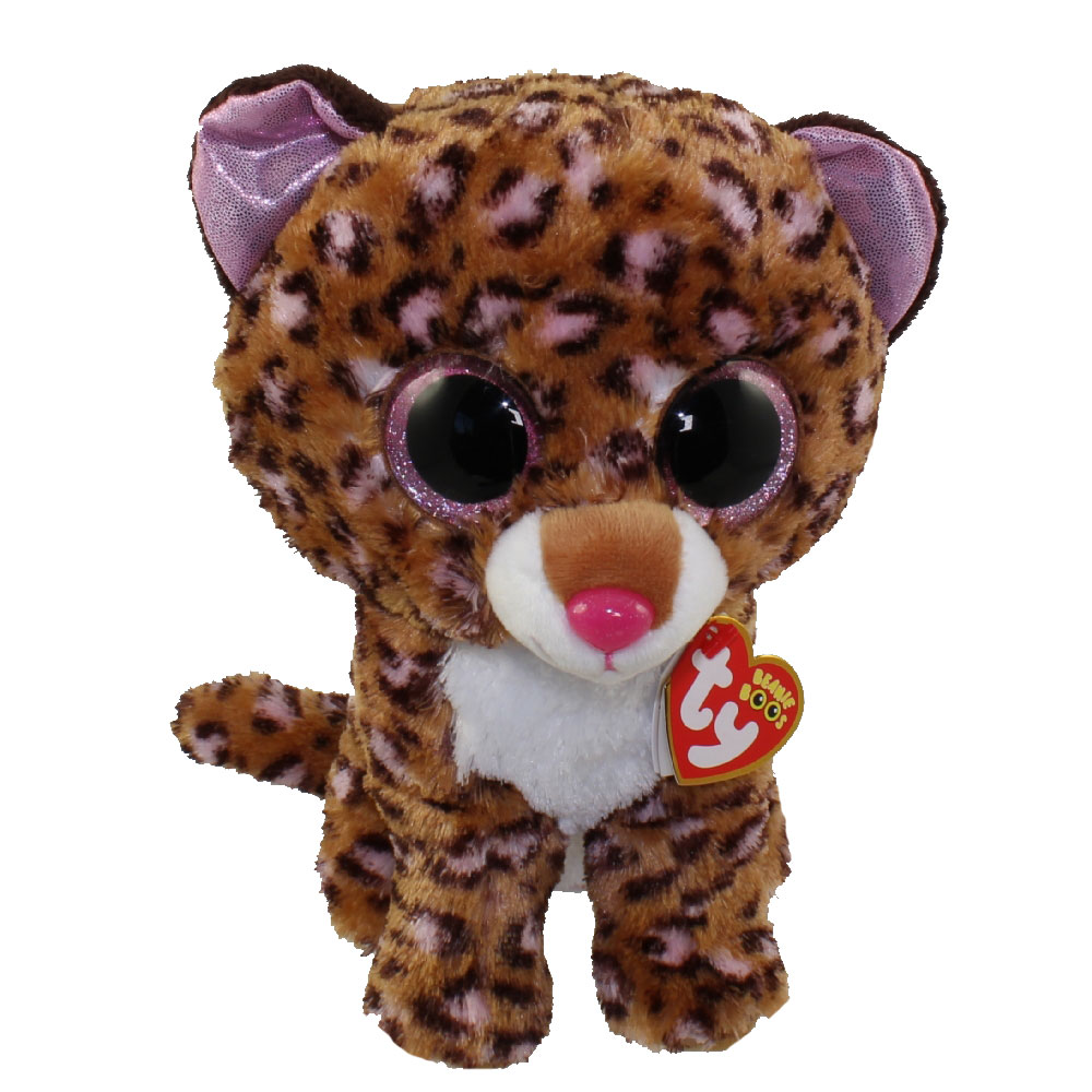 a929ca9cc31 TY Beanie Boos - PATCHES the Brown   Pink Leopard (Glitter Eyes) (Medium