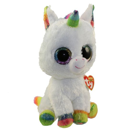 Ty Beanie Boos Pixy The Unicorn Glitter Eyes Medium Size 10