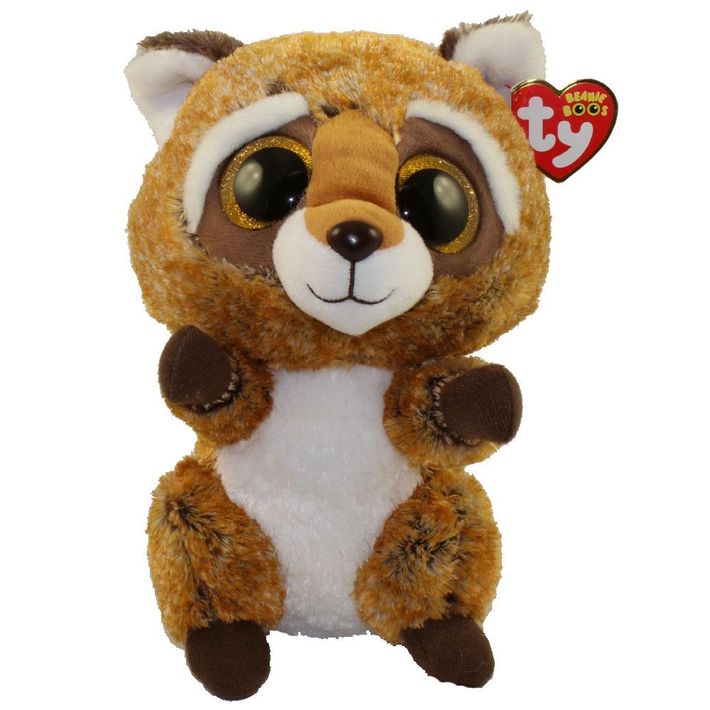 Ty Beanie Boos Rusty The Raccoon Glitter Eyes Medium