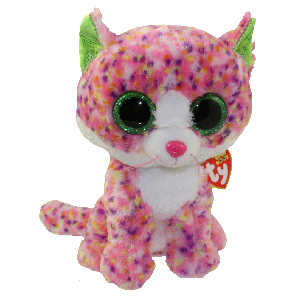 Ty Beanie Boos Sophie The Multi Color Cat Glitter Eyes