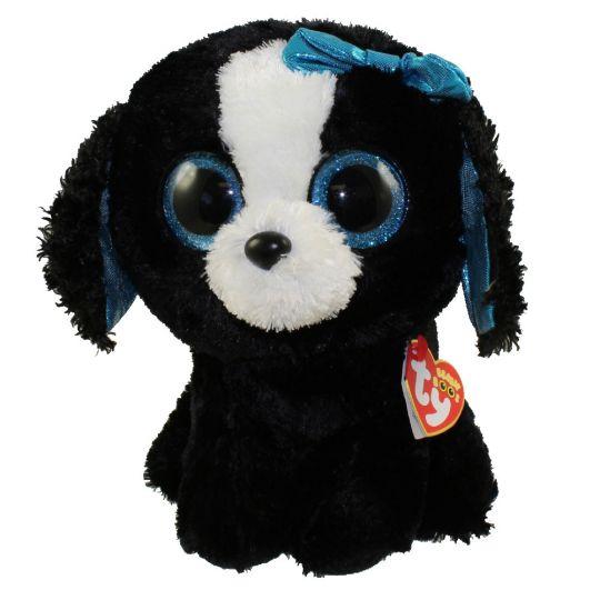 33d53cf6358 TY Beanie Boos - TRACEY the Black   White Dog (Glitter Eyes) (Medium ...