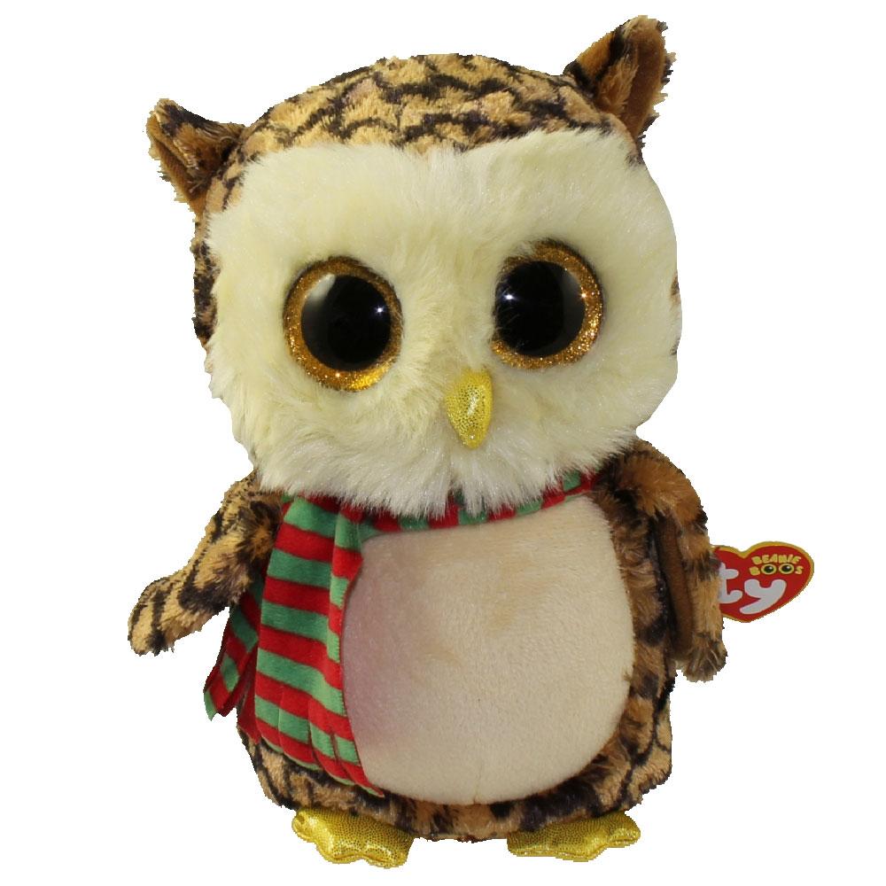 Ty Beanie Boos Wise The Owl Glitter Eyes Medium Size