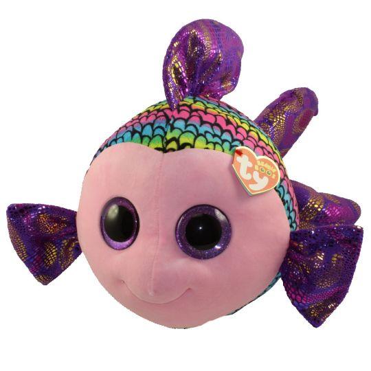 TY Beanie Boos - FLIPPY the Fish (Glitter Eyes) (LARGE Size - 20 inch)   BBToyStore.com - Toys 1e2fd81ceab9