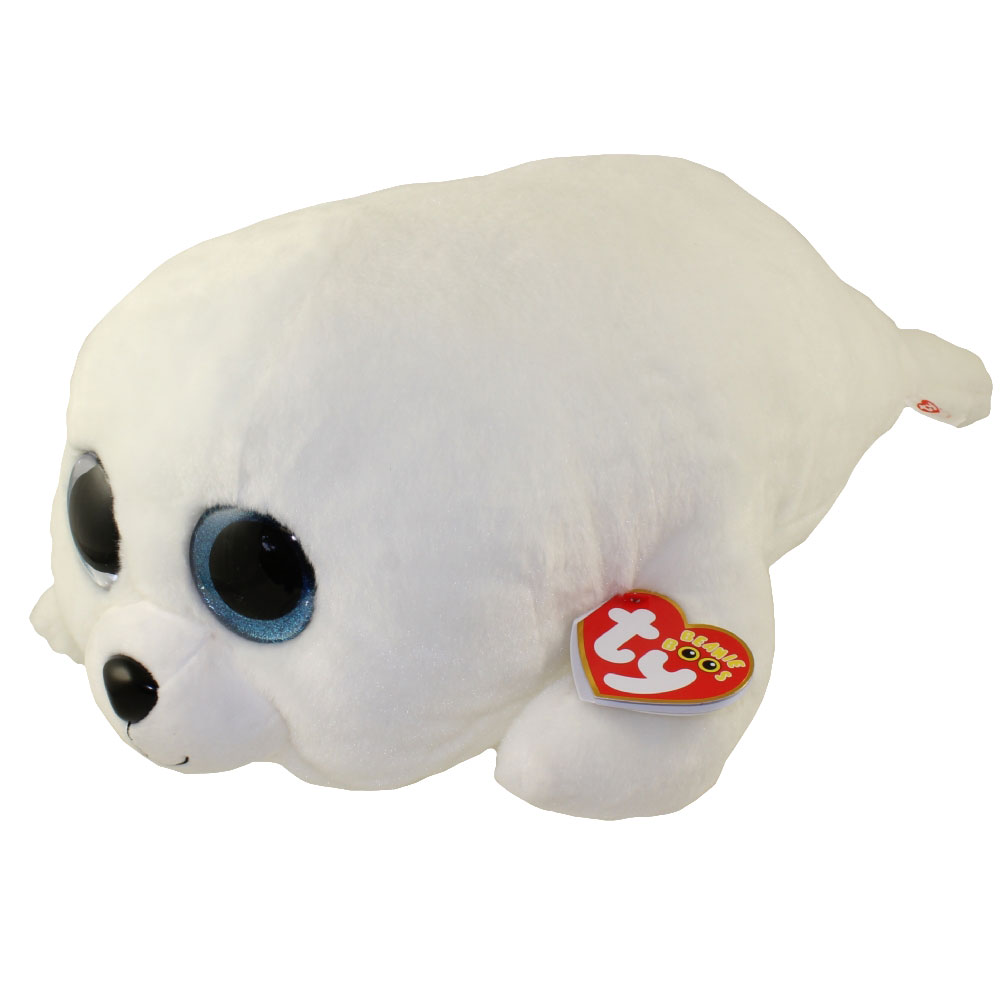 6ce1e7ce063 TY Beanie Boos - ICY the White Seal (LARGE Size - 21 inch)  BBToyStore.com  - Toys
