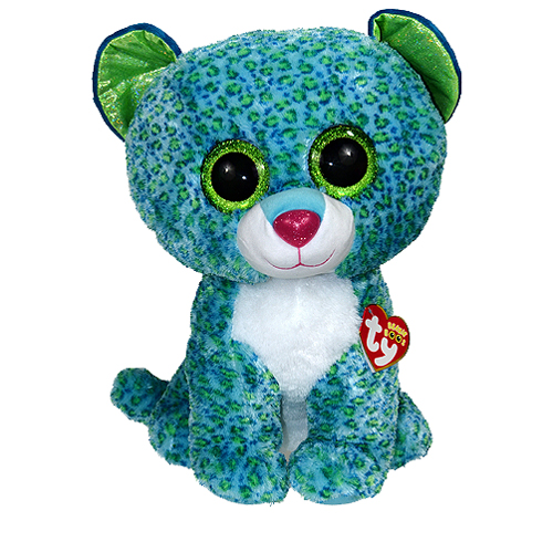 Ty Beanie Boos Leona The Leopard Glitter Eyes Large