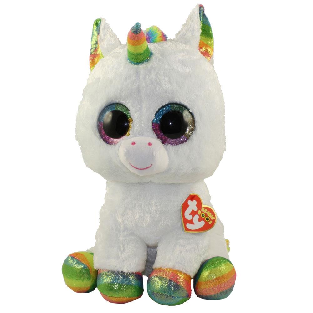 4a3e7475919 TY Beanie Boos - PIXY the Unicorn (Glitter Eyes) (LARGE Size - 17