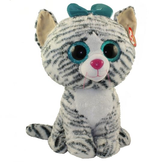 54c3ec58644 TY Beanie Boos - QUINN the Cat (Glitter Eyes)(LARGE Size - 17 inch)  Limited  Exclusive   BBToyStore.com - Toys