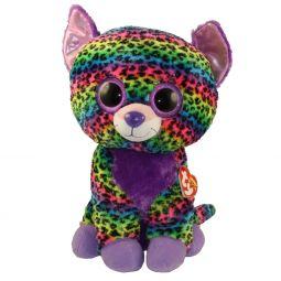 8e93b5750ad TY Beanie Boos - TRIXIE the Rainbow Leopard (Glitter Eyes)(LARGE Size -