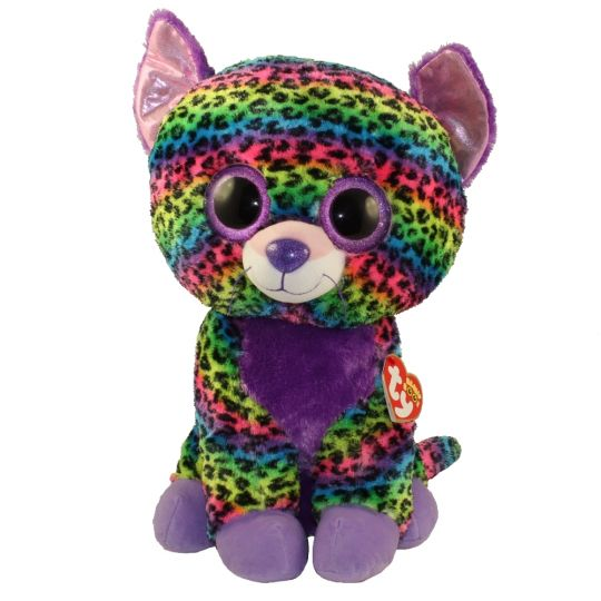 abb5fba98 TY Beanie Boos - TRIXIE the Rainbow Leopard (Glitter Eyes)(LARGE Size - 17  inch) *Limited Exclusive*