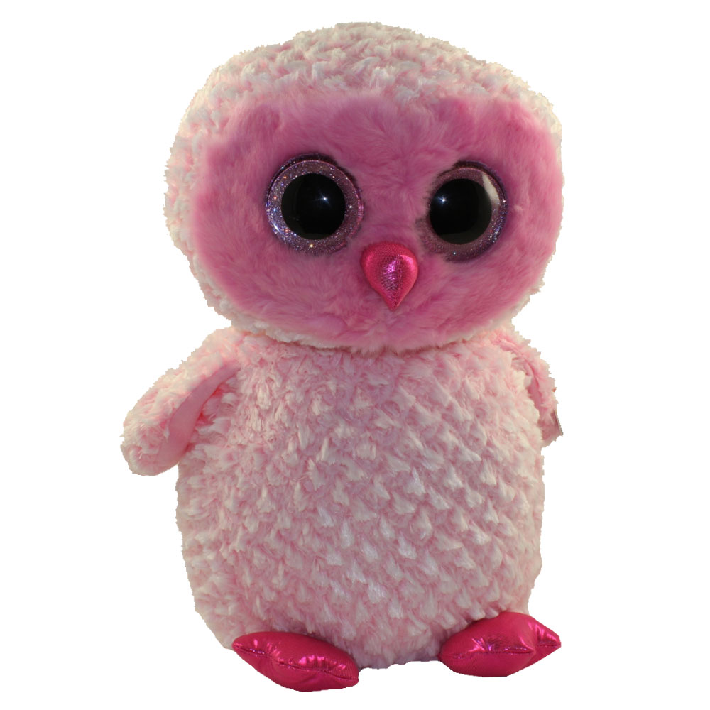 c024565cc13 TY Beanie Boos - TWIGGY the Pink Owl (Glitter Eyes) (LARGE Size -