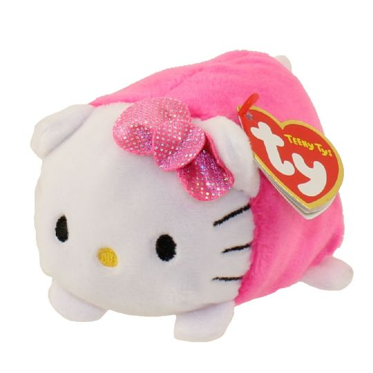 TY Beanie Boos - Teeny Tys Stackable Plush - HELLO KITTY (Pink) (4 inch)   BBToyStore.com - Toys 8448a096b904