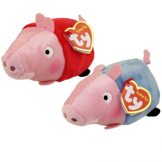 5d44ce79f5a TY Beanie Boos - Teeny Tys Stackable Plush - Peppa Pig - SET OF 2 (Peppa    George)  BBToyStore.com - Toys