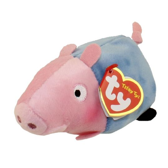 3a07abd0ea1 TY Beanie Boos - Teeny Tys Stackable Plush - Peppa Pig - GEORGE PIG (4  inch)  BBToyStore.com - Toys