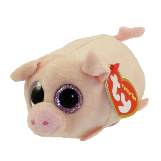 TY Beanie Boos - Teeny Tys Stackable Plush - CURLY the Pig (4 inch)   BBToyStore.com - Toys 5a9aa010e13