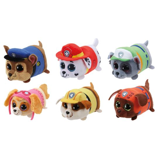 TY Beanie Boos - Teeny Tys Stackable Plush - Paw Patrol - SET OF 6 (4 inch)  (Chase 7aeb9213922