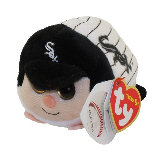 24888fb3a49 TY Beanie Boos - Teeny Tys Stackable Plush - MLB - CHICAGO WHITE SOX   BBToyStore.com - Toys