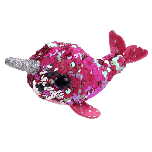 TY Beanie Boos - Teeny Tys Stackable Sequin Plush - NELLY the Narwhal (4  inch)(Ships Spring)  BBToyStore.com - Toys 4412b7ef44cc