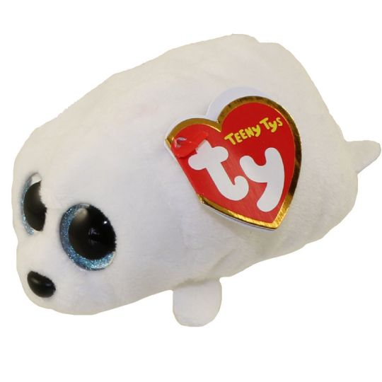 TY Beanie Boos - Teeny Tys Stackable Plush - SLIPPERY the Seal (4 inch)   BBToyStore.com - Toys d34aae17b23