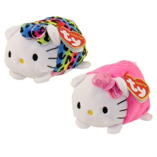 TY Beanie Boos - Teeny Tys Stackable Plush - Hello Kitty - SET OF 2 (Pink    Rainbow)  BBToyStore.com - Toys fc9713b71ce
