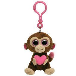 d93441efcd6 TY Beanie Boos - CASANOVA the Monkey (Solid Eye Color) (Plastic Key Clip