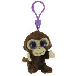 TY Beanie Boos - COCONUT the Monkey (Glitter Eyes) (Plastic Key Clip - fb14b462dd6