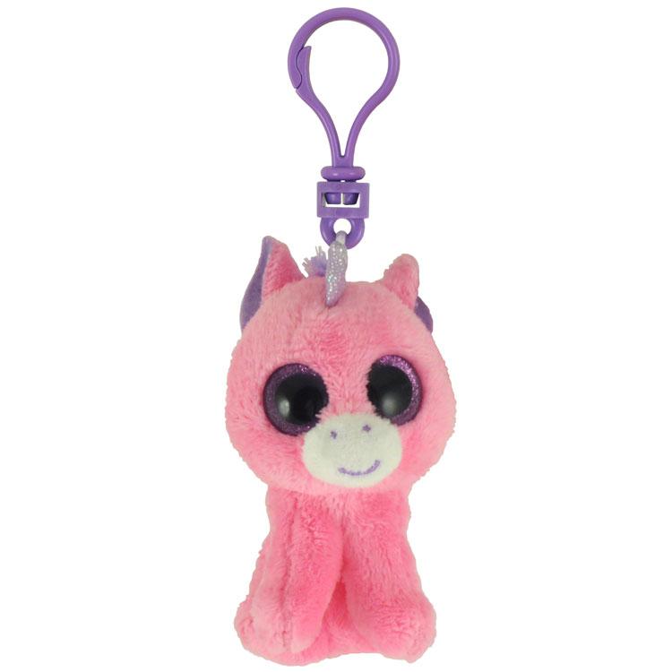 3d7d71cba6c TY Beanie Boos - MAGIC the Pink Unicorn (Glitter Eyes) (Plastic Key Clip -  3 inch)  BBToyStore.com - Toys