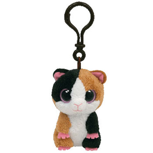 TY Beanie Boos - NIBBLES the Guinea Pig (Solid Eye Color) (Plastic Key Clip  - 3 inch)  BBToyStore.com - Toys e78670f7212