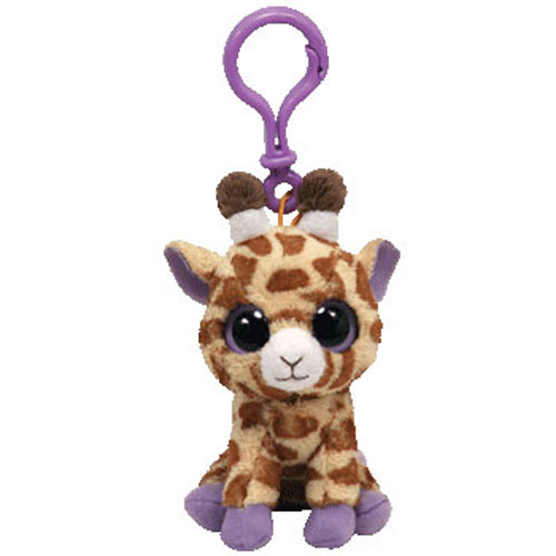 a97554d2e37 TY Beanie Boos - SAFARI the Giraffe (Solid Eye Color) (Plastic Key Clip