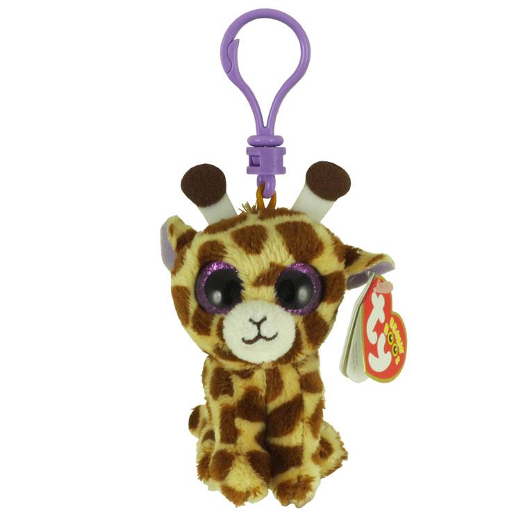 bf34ae29b8e TY Beanie Boos - SAFARI the Giraffe (Glitter Eyes) (Plastic Key Clip - 3  inch)  BBToyStore.com - Toys