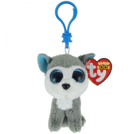 aa4b4158c4d TY Beanie Boos - SLUSH the Husky Dog (Glitter Eyes) (Plastic Key Clip - 3  inch)  BBToyStore.com - Toys