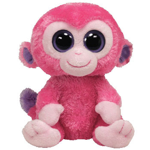 7fc1764b58f TY Beanie Boos - RAZBERRY the Pink Monkey (Solid Eye Color) (Regular Size -  6 inch)  BBToyStore.com - Toys
