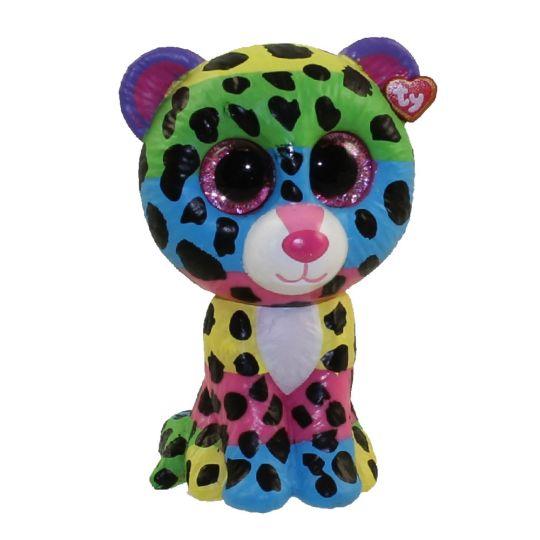 TY Beanie Boos - Mini Boo Figures - DOTTY the Rainbow Leopard (2 inch)  Rare  Chase   BBToyStore.com - Toys e724317b7d73