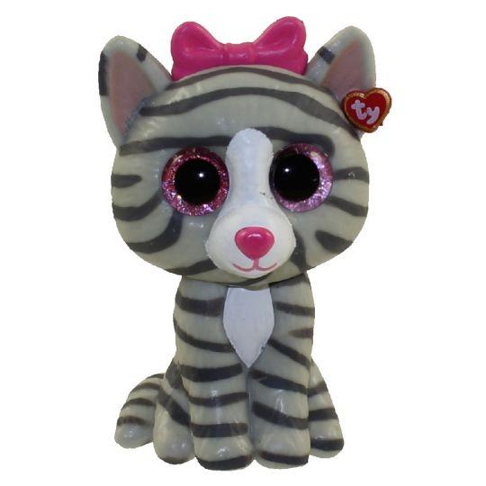 TY Beanie Boos - Mini Boo Figures - KIKI the Grey Tabby Cat (2 inch)   BBToyStore.com - Toys 38d28f618e84