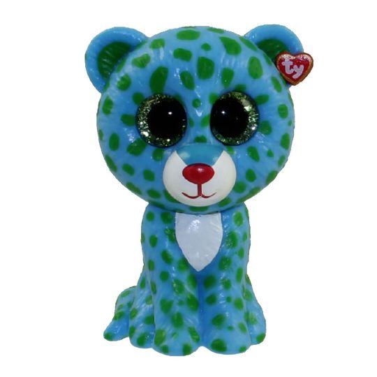TY Beanie Boos - Mini Boo Figures - LEONA the Blue Leopard (2 inch)   BBToyStore.com - Toys 576723c78db