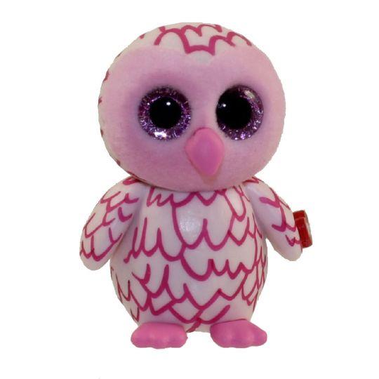 TY Beanie Boos - Mini Boo Figures - PINKY the Pink Owl (2 inch)   BBToyStore.com - Toys 4dbaa0a111d
