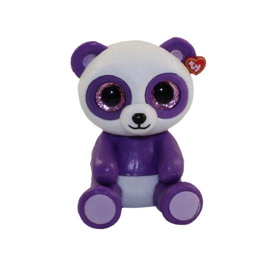 15ee0206055 TY Beanie Boos - Mini Boo Figures Series 2 - BOOM BOOM the Purple   White  Panda (2 inch)  BBToyStore.com - Toys