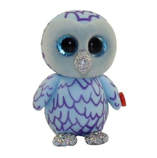 TY Beanie Boos - Mini Boo Figures Series 3 - OSCAR the Blue Owl (2 inch)   BBToyStore.com - Toys 3397ea543d1a