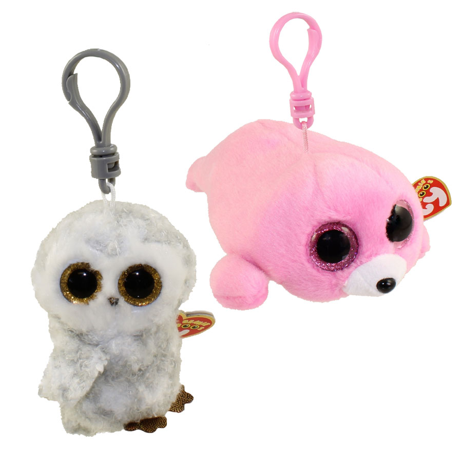 0fecf010391 TY Beanie Boos - SET of 2 Summer 2016 Releases (Key Clips) (Owlette